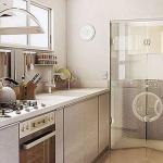Divisória de vidro para lavanderia