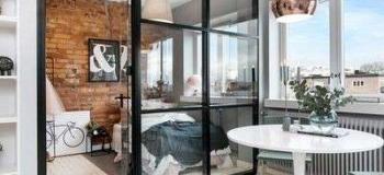 Divisória de vidro para cozinha e sala