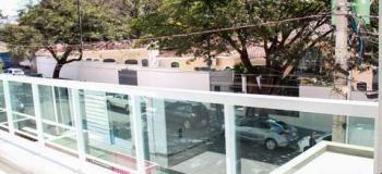 Fechamento de varanda com vidro temperado